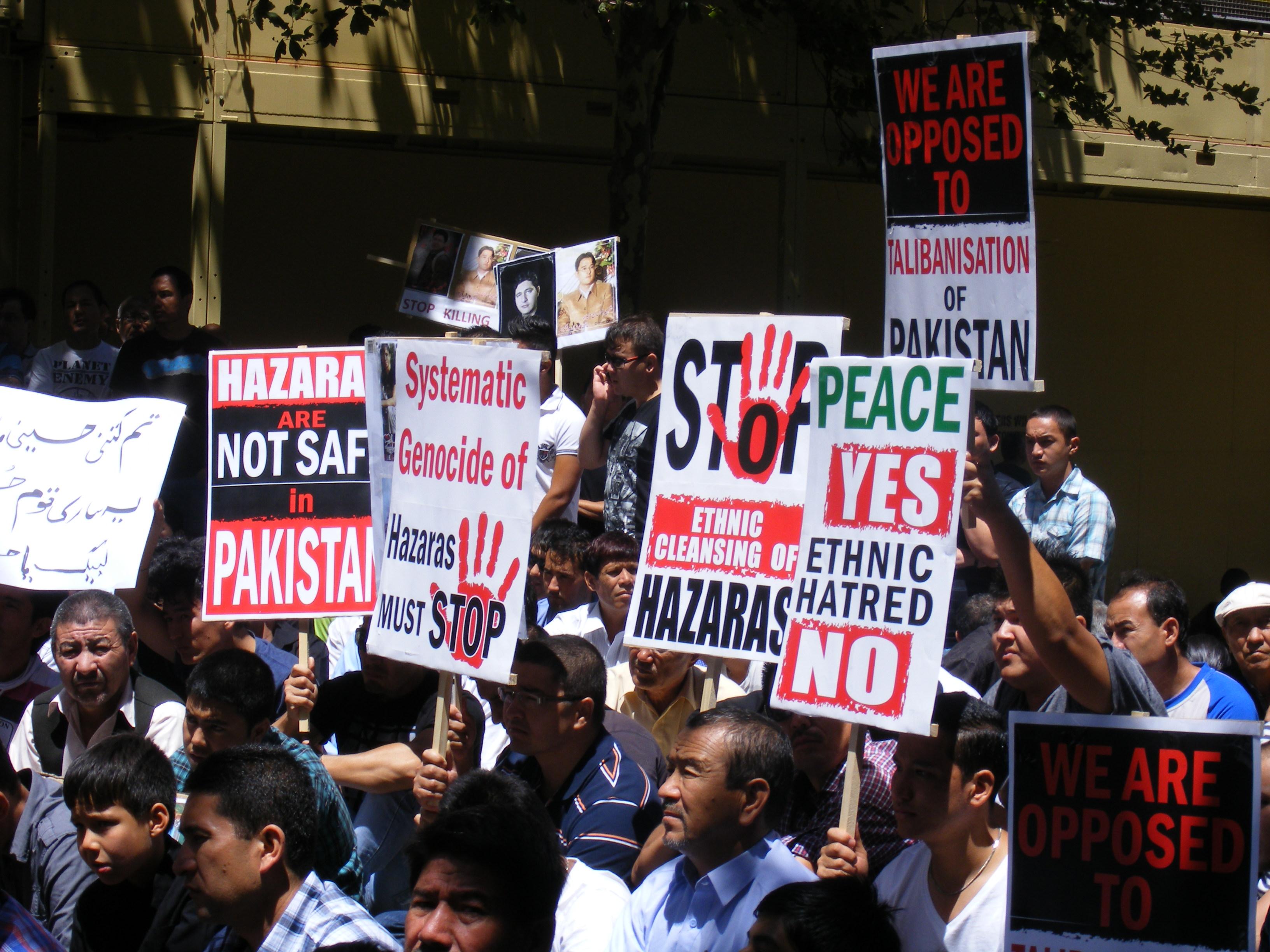 hot sales e6f92 70906 Pakistani Hazara Community protests in thousands in Sydney   Tribune ...