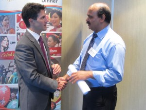 Editor-in-Chief, Tribune International, Syed Atiq ul Hassan talking to Hon Victor Dominello