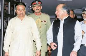 Nawaz Sharif with Pervez Musharraf - 'I don't like military dictator'