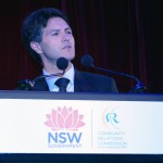 Hon Victor Dominello speaking at Premier's Multicultural Dinner
