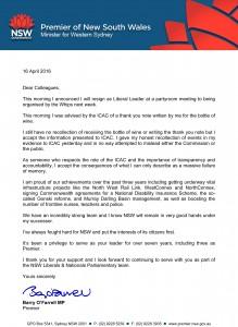 Premier's Letter - 16 April 2014