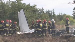 Scene of Polish plane crash