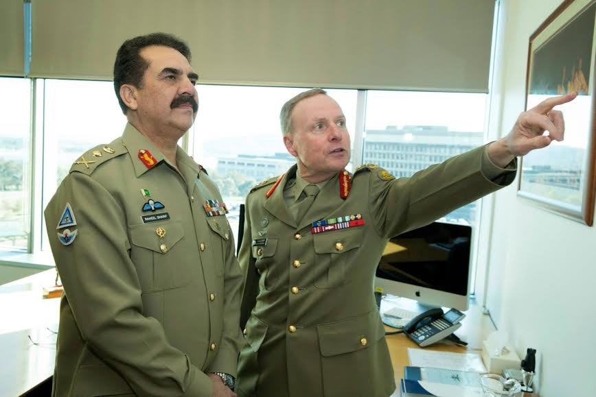 Pakistan army chief in australia