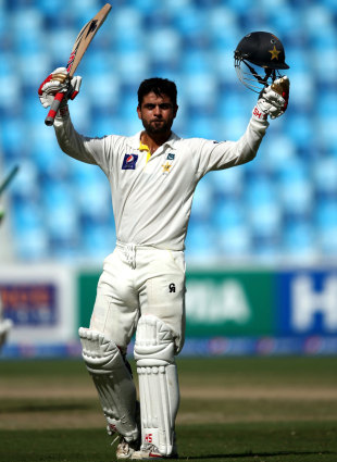 Ahmed Shehzad scored his second Test hundred