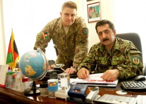 Captain Dale with his Afghan partner Colonel Hakimullah
