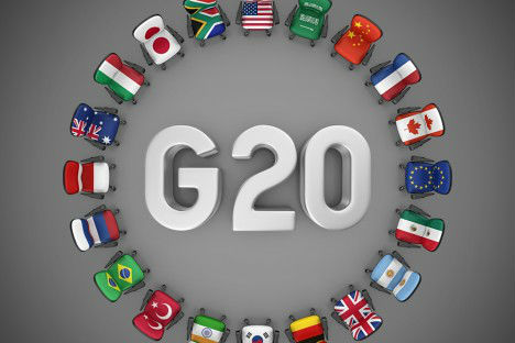 G 20 flags