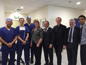 "The team of doctors involved in the world's first ""dead heart transplant"" at St Vincent's Hospital."