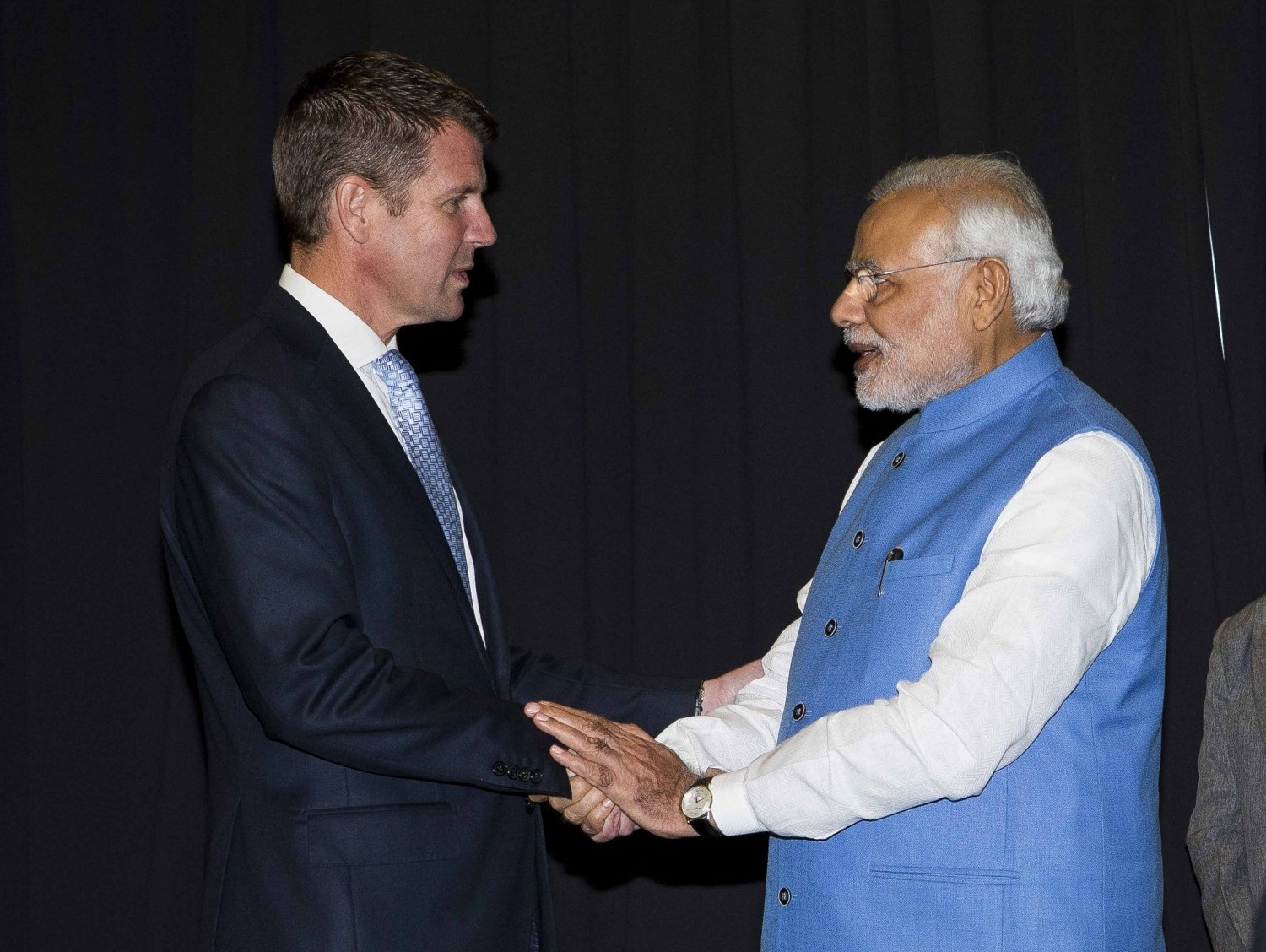 Mr Narendra Modi – Prime Minister of India meeting with The Hon Mike Baird, NSW 2014