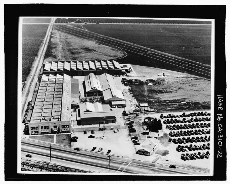 The Library of Congress photo shows the former Rockwell International NASA Industrial Facility in Downey, California. The town has never recovered from the jobs lost when the factory closed. (Photo: The Washington Post)