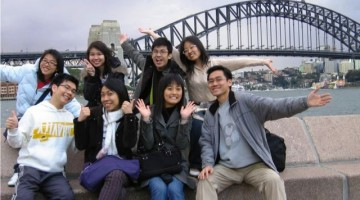Chinese students in Australia.