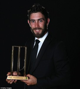 Glenn Maxwell awarded the Twenty20 Player of the Year following his impressive performances in the ICC T20.