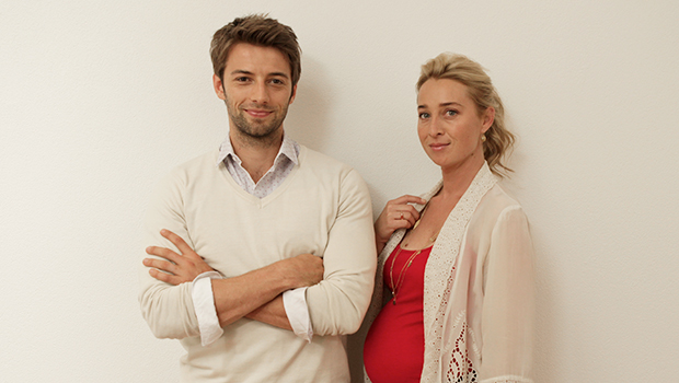 Ido Drent with his Offspring co-star Asher Keddie
