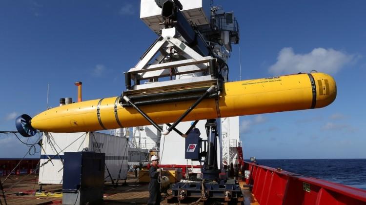 The Phoenix International Autonomous Underwater Vehicle (AUV) Artemis during the search for MH370. Photograph: Xinhua/Xinhua Press/Corbis