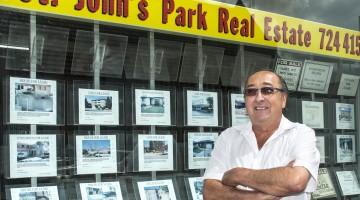 Stephen Colagiuri from St Johns Park Real Estate, Fairfield City Centre.