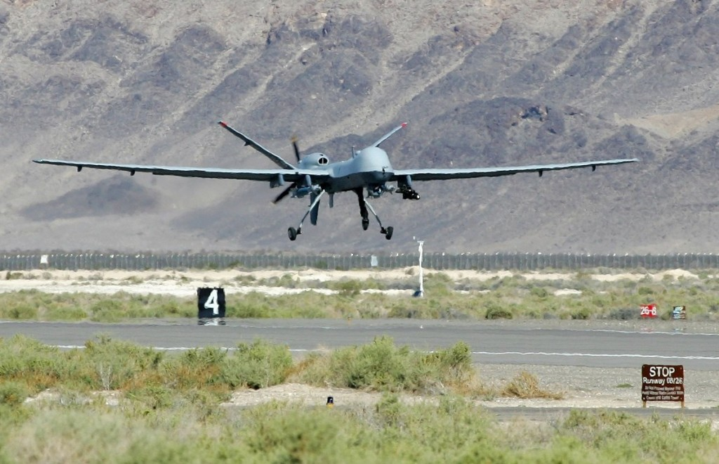 An MQ-9 Reaper takes off at Creech Air Force Base in Indian Springs, Nevada. Australia has indicated it will buy the unmanned vehicle for its military. Photo: Getty Images