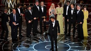 Birdman team at Oscars