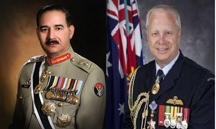 General Rashad Mahmood with Australian Air Force Chief