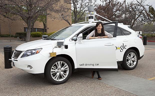 Google's Self drive car. Photot: Carlos Chavarra