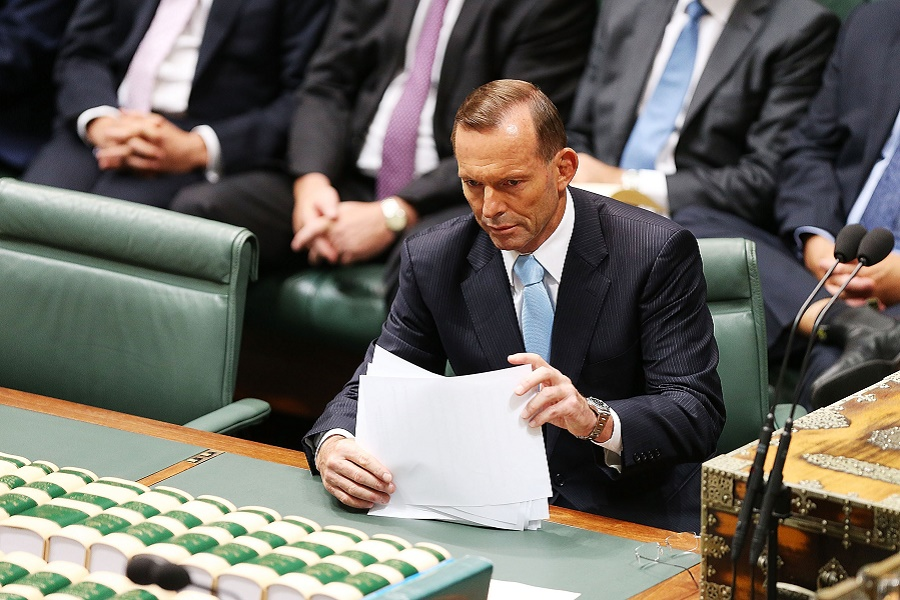 Tony Abbott remains Prime Minister of Australia after a spill motion failed at a Liberal party meeting this morning. The motion was defeated, 39 to 61 in favour of Abbott. Photo: Stefan Postles, Getty Images
