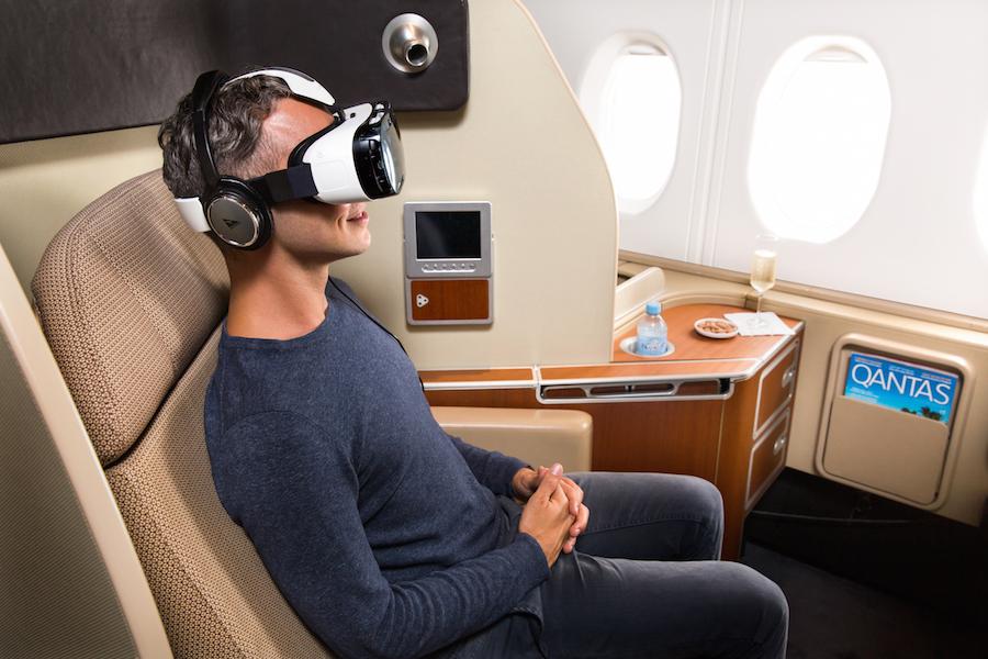 Qantas and Samsung Partner for First Class VR Entertainment (Qantas).