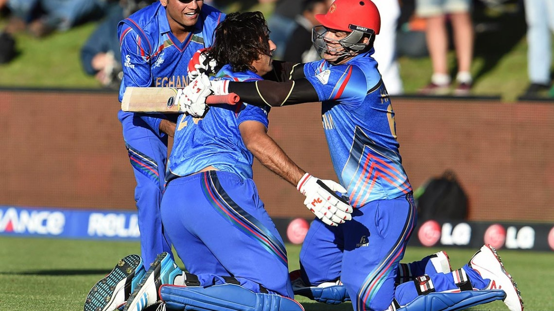 Afghanistan team celebrates thrilling victory over Scotland - Getty Images