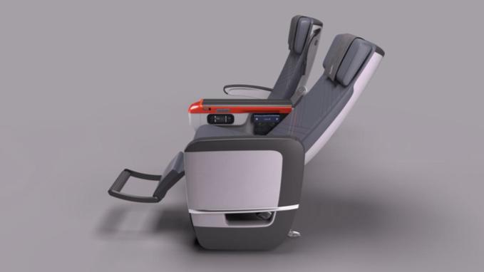 SIA's premium economy seat features eight degrees of recline.