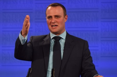 Tim Wilson has advocated for native title reform at the National Press Club. AAP/Mick Tsikas