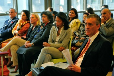 US Ambassador Richard Olson and other US diplomats at the launch of Women Entrepreneurs Center.