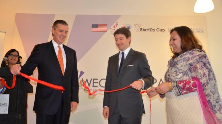 US Ambassador Richard Olson inaugurating the Women's Entrepreneurial Center in Islamabad. Photo: US Embassy Pakistan
