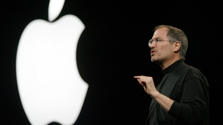 Steve Jobs, CEO of Apple, at the 2013 Macworld Conference and Expo in San Francisco. Photo: Randi Lynn Beach/ Bloomberg