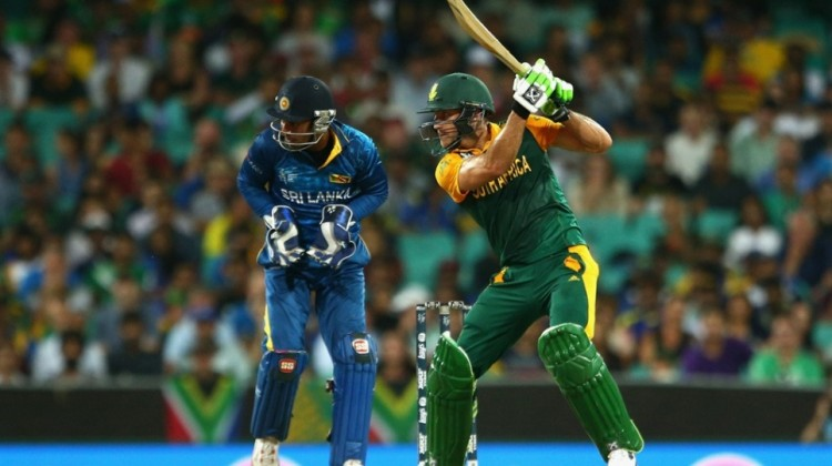 Faf du Plessis in action for South Africa against Sri Lanka. Photo: Cameron Spencer/Getty Image