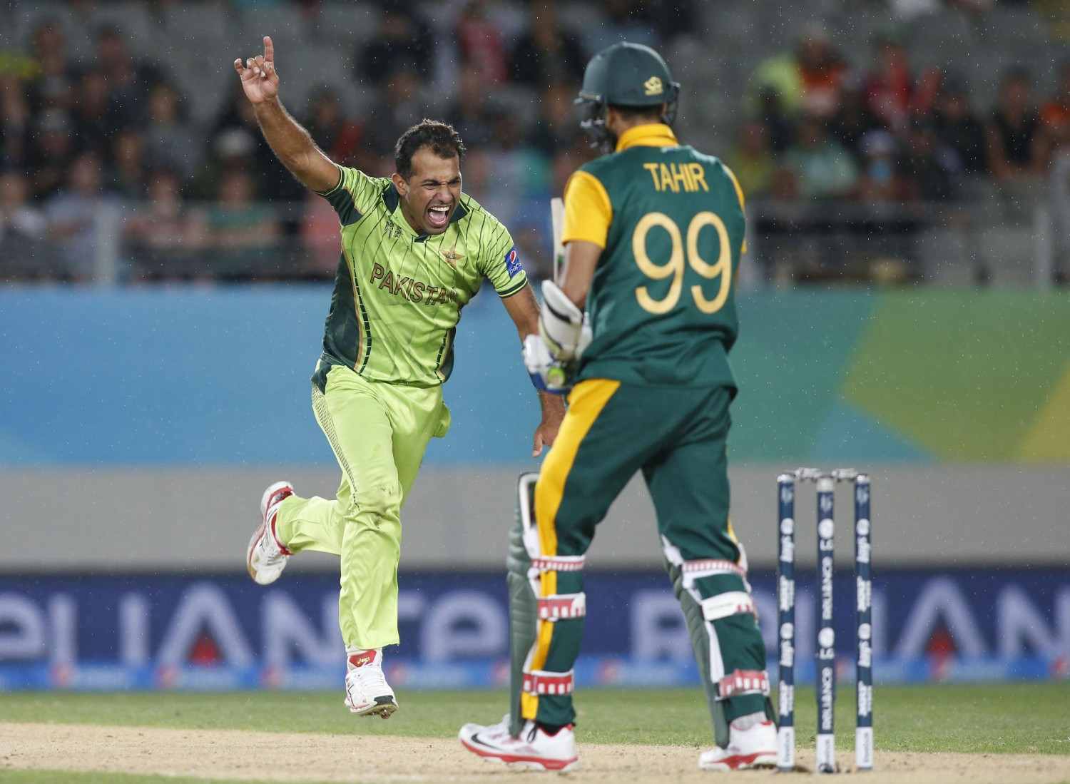 Ali, Irfan and Riaz among the wickets as South Africa are bowled out for 202 in 33.3 overs.