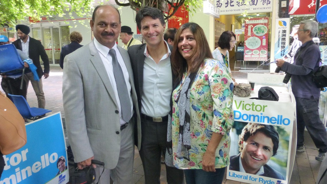Victor Dominello with Mr. & Mrs Hassan