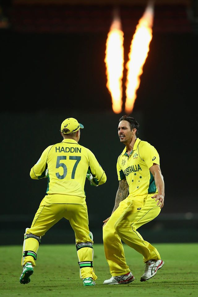 Brilliant Johnson smashed 27 not out off nine balls and picked up 2 wickets as well.