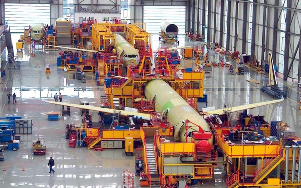 A320 Final assembly line