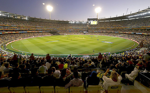 A record crowd of 93,013 packs into the MCG