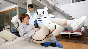 Robear, a new care support robot bear nurse that can lift patients up gently