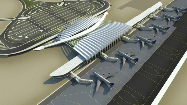 The airport received the first international flight from Cairo International Airport with over 100 passengers on board. Photo: openbuildings.com