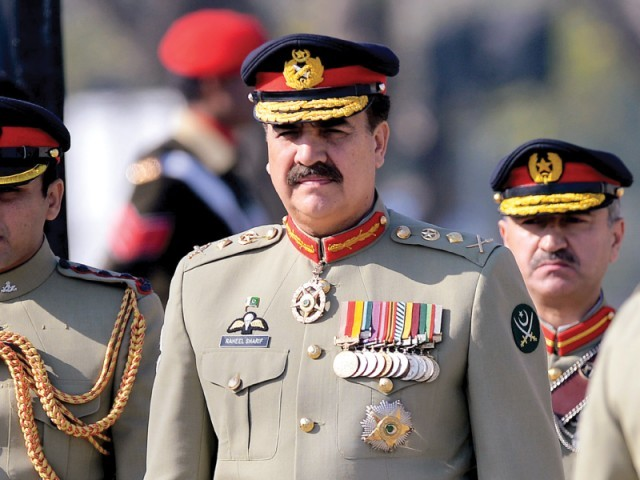 Pakistan armed forces Chief of Staff General Raheel Sharif