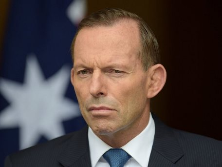 Australian Prime minister Tony Abbott looks during a news conference at Parliament House in Canberra, Australia, last month. Photo: Lukas Coch/EPA/Landov