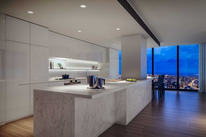 kitchen of penthouse