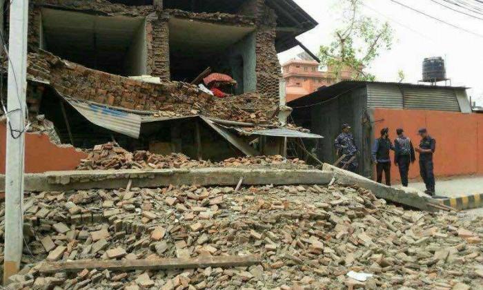 Nepal earthquake destruction. Photo: Xinhua