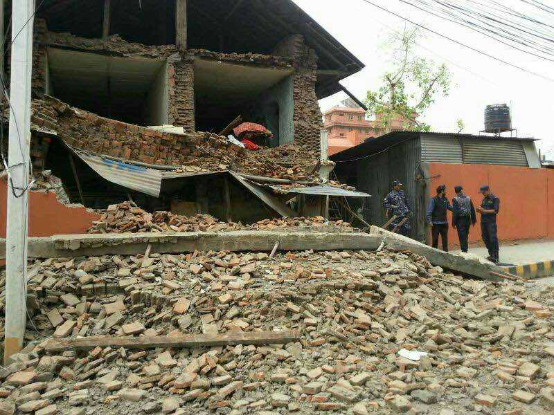 Nepal earthquake destruction. Photo: Xinhua