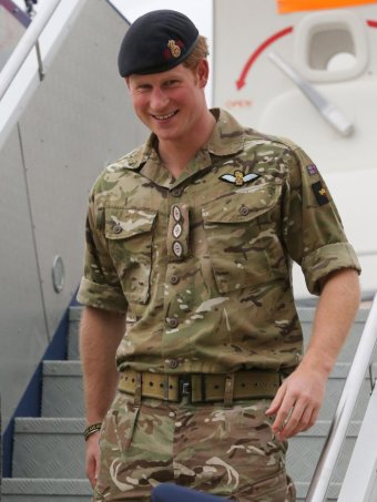Prince Harry arrived in Canberra for official engagements ahead of joining the Army on secondment. (AAP: News Corp Pool/Ray Strange)