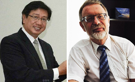 L to R: The Ambassador of the Philippines , Domingo D. Lucenario Jr and the Ambassador of Norway,Leif H. Larsen, were among those killed in the ill-fated helicopter crash on Friday in Gilgit, Pakistan.