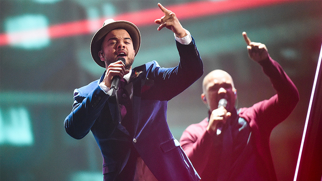 Guy Sebastian performs 'Tonight Again' at the 2015 Eurovision Song Contest. Photo: Getty Images