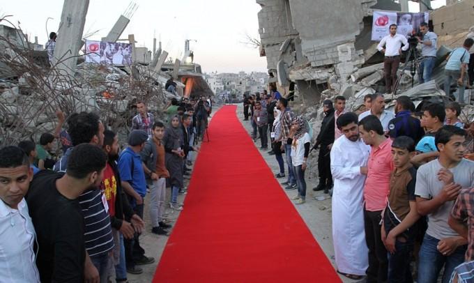 The Karama-Gaza Human Rights Film Festival had a red carpet that ran through the city's ruins.