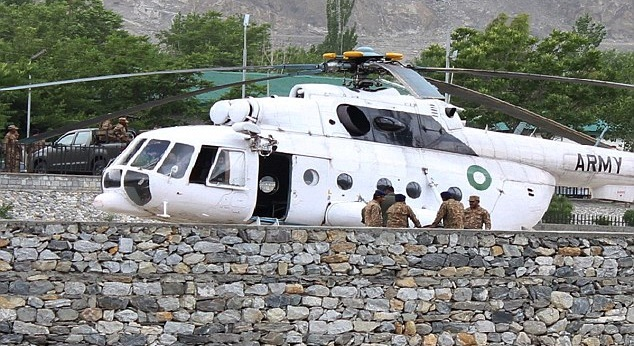 Helicopter carrying foreigners crash-landed in Gilgit, Pakistan on Friday, 8 May 2015.