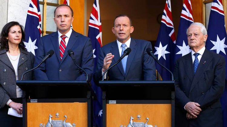 Prime Minister Tony Abbott on Tuesday unveiled a new tranche of anti-terrorism laws, which will enable the immigration minister to strip Australian citizenship off a dual citizen.