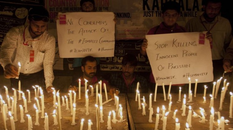 Vigils were held in Karachi for those killed in 13 May attack on a bus by gunmen in Karachi.